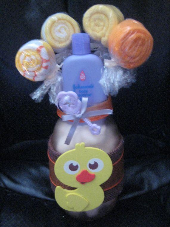 baby shower duckie mason jar centerpiece washcloth by mybarbieart 25