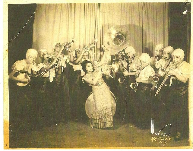 The Harlem Playgirls was an African American swing band active in the Midwest and throughout the United States from the mid-1930s to the early 1940s.  http://madamafrique.tumblr.com/page/14