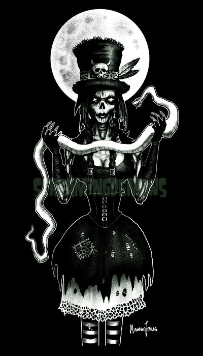 Voodoo Zombie by  ScreamingDemons  T-shirt concept  Voodoo Skull Drawing