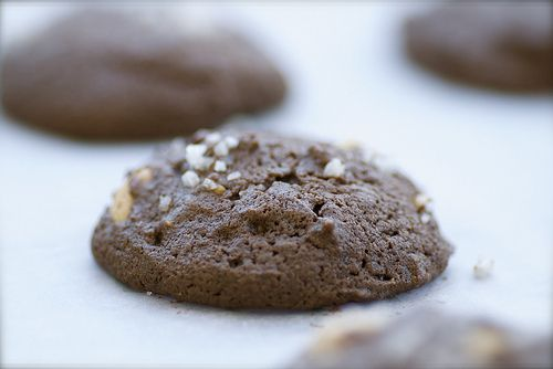 Salted Double Chocolate Peanut Butter Cookies. Don't worry, they look ...