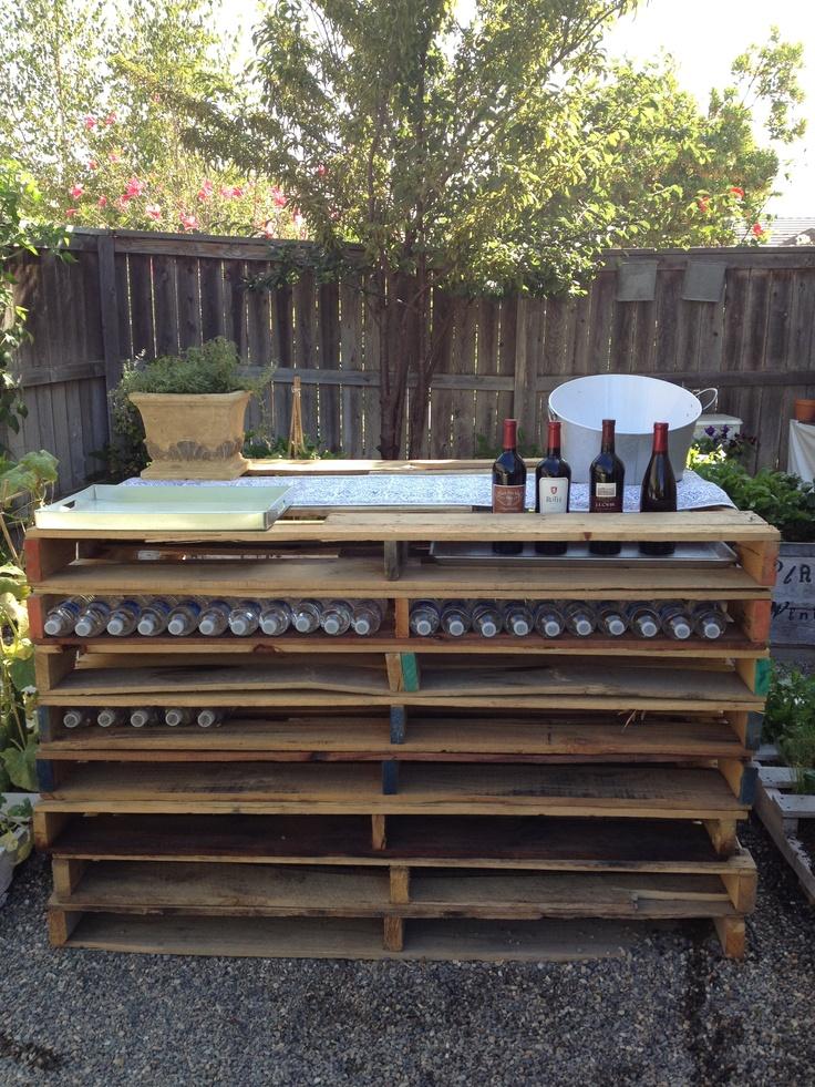 Pallet bar | bar ideas | Pinterest