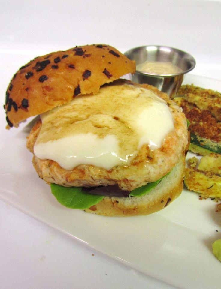 Goat Cheese Tomato Basil Chicken Burger | Yum | Pinterest
