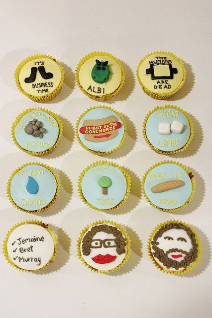 Flight of the Conchords Cupcakes by lydiabakes, via Flickr