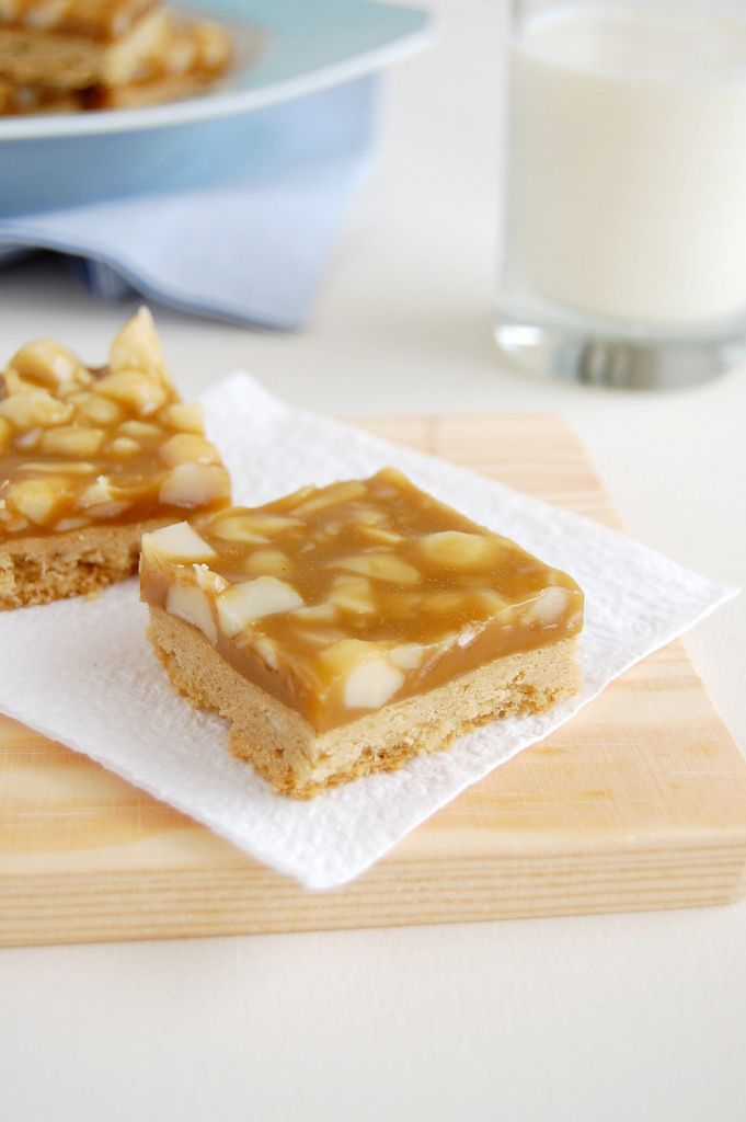 Macadamia Maple Sticky Bars | Dessert First | Pinterest