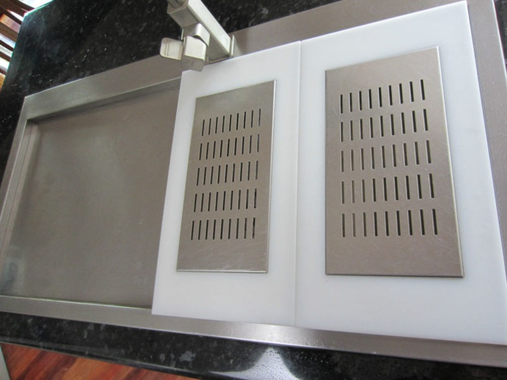 FRANKE Kitchen Sink Dish Drainer Strainer Cover Chopping Board x 2