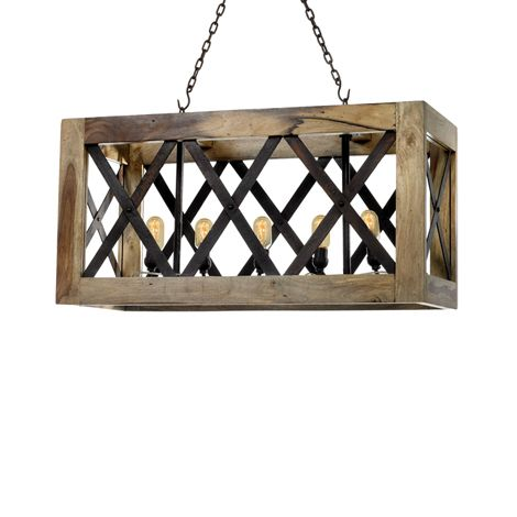 Boxed Wood Crate Light Lighting