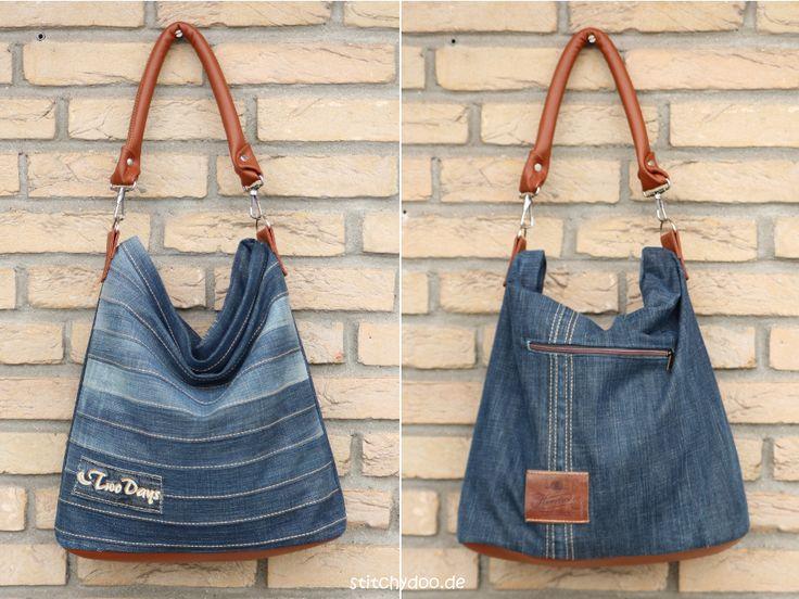 Сшить самой сумку из джинсовой ткани 21