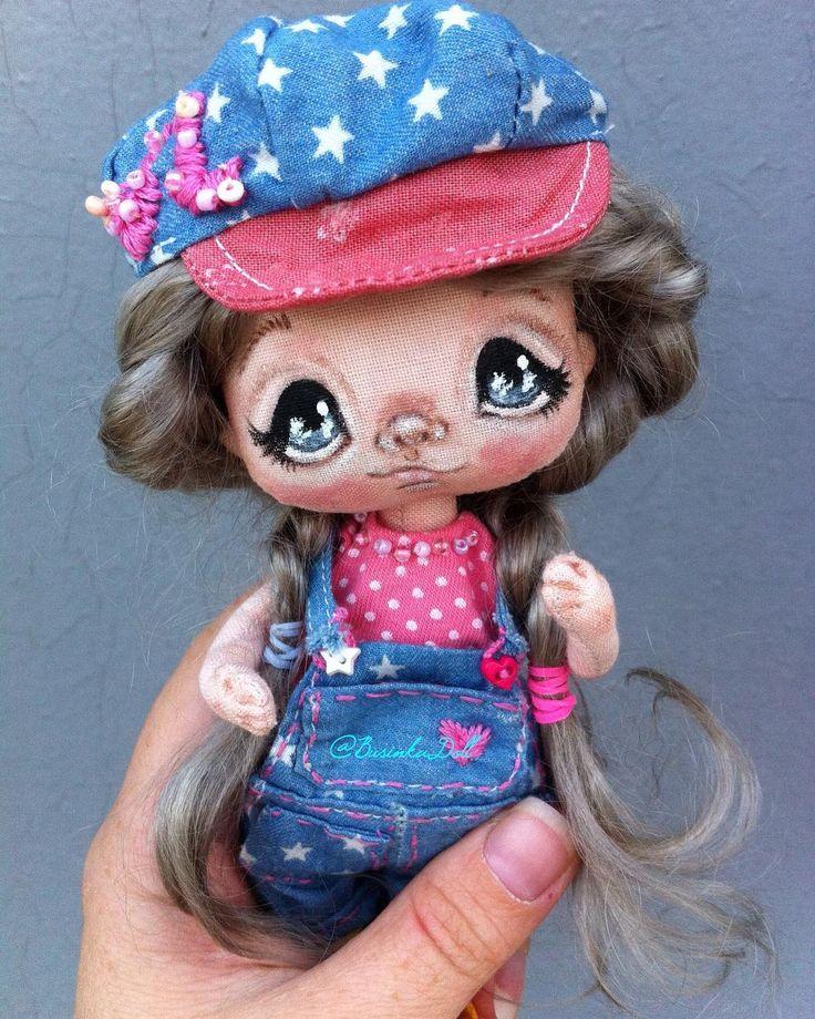 Глазки для куклы рисуем