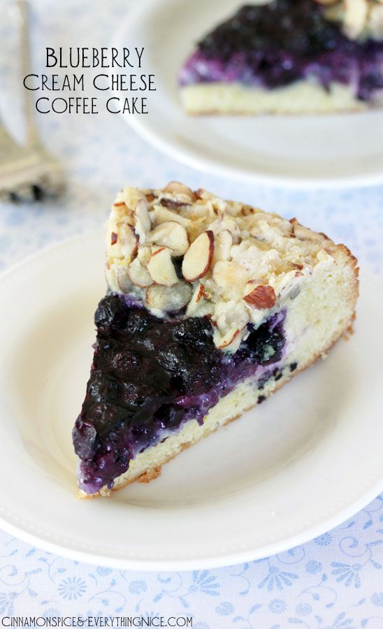 Love Food - BLUEBERRY CREAM CHEESE COFFEE CAKE