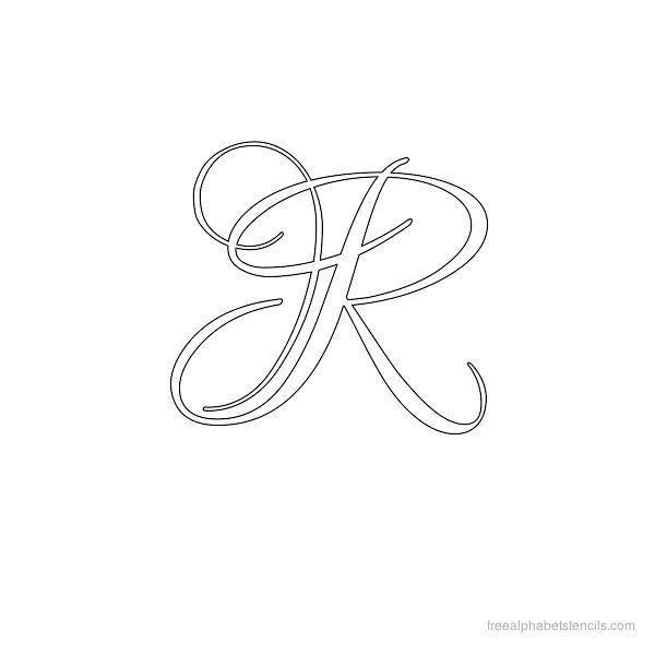 Pin stencil calligraphy alphabet m pelautscom on pinterest
