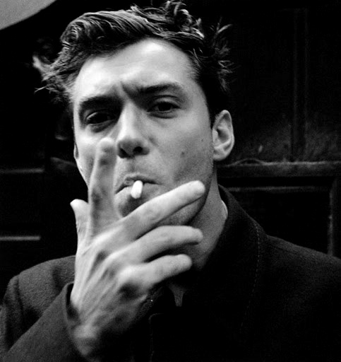 Jude Law ... I loathe cigarettes, but they DO make you look cool, what ...