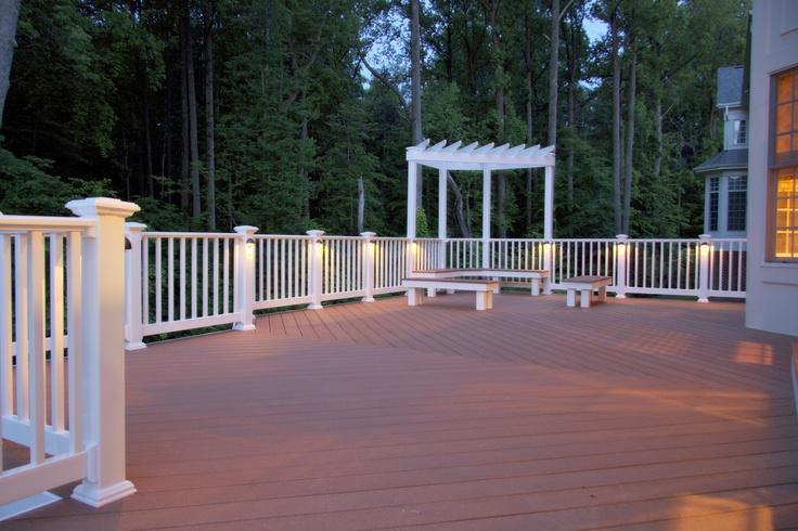 deck railing lights outdoor home ideas pinterest. Black Bedroom Furniture Sets. Home Design Ideas