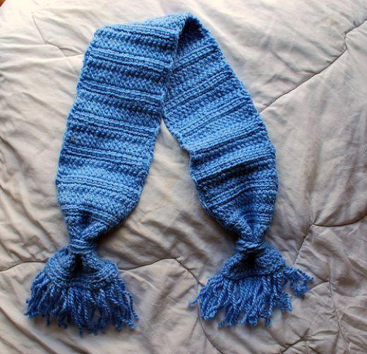 Crochet Pattern Baby Scarf : Crochet Pattern: Baby Boy Scarf and Mittens Set