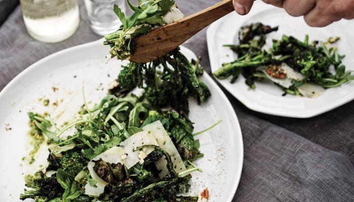Grilled Broccoli Rabe and Arugula Salad | The Splendid Table