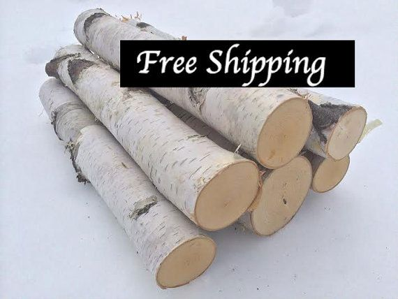 White Birch Fireplace Set 16