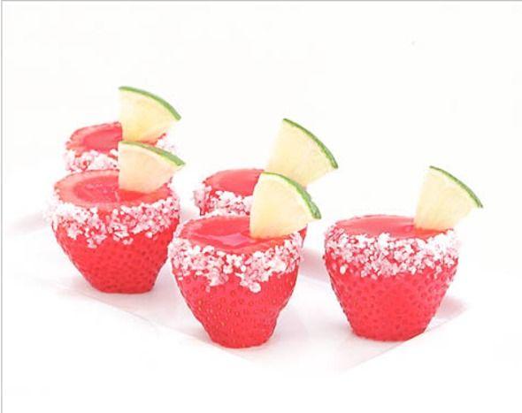 Strawberry Margarita Jello Shots | mmmmfood. | Pinterest