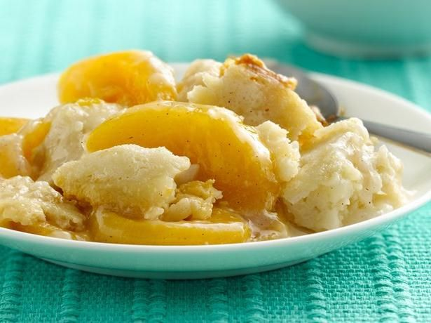 Slow cooker peach cobbler | Crock Pot/Slow Cooker | Pinterest