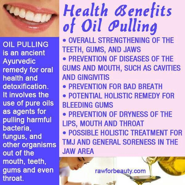 Oil pulling and oral care benefits of oil pulling