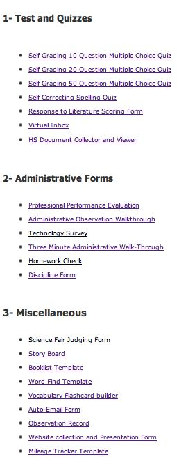 20+ Google Form Teachers Should Not Miss - oh so perfect for accessing and completing formative assessment on a mobile device!  http://www.educatorstechnology.com/2012/12/20-google-forms-teachers-should-not-miss.html