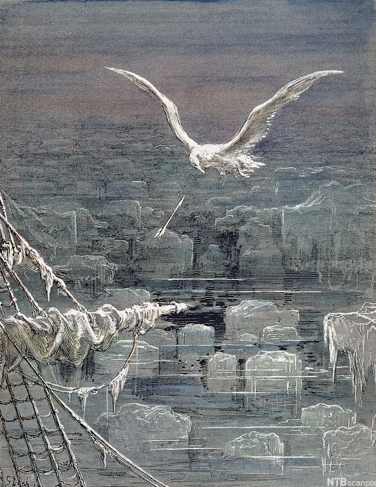 """rime of the ancient mariner The only correction i'd make is that some of his poems are indisputably great, and  the greatest is probably """"the rime of the ancient mariner."""