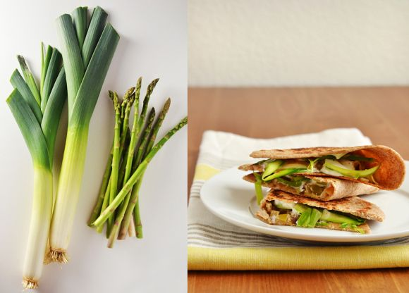Spring quesadillas with asparagus and goat's cheese // Dinners for ...