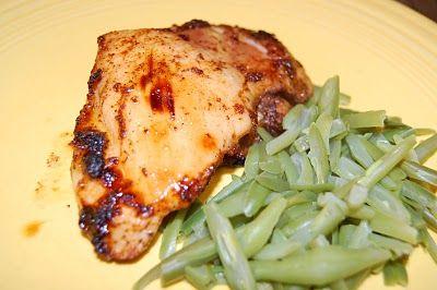 Spicy Honey-Brushed Chicken Thighs | A little...chicken | Pinterest