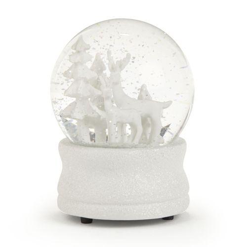 Boule à neige musicale blanche - Noël Traditionnel
