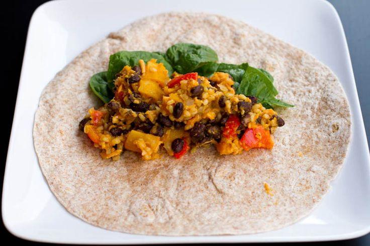 Black Bean and Butternut Squash Burritos | Main Course Recipes | Pint ...