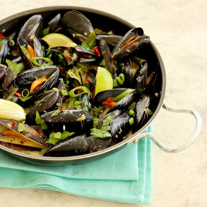 Thai Green Curry Mussels | Yum | Pinterest