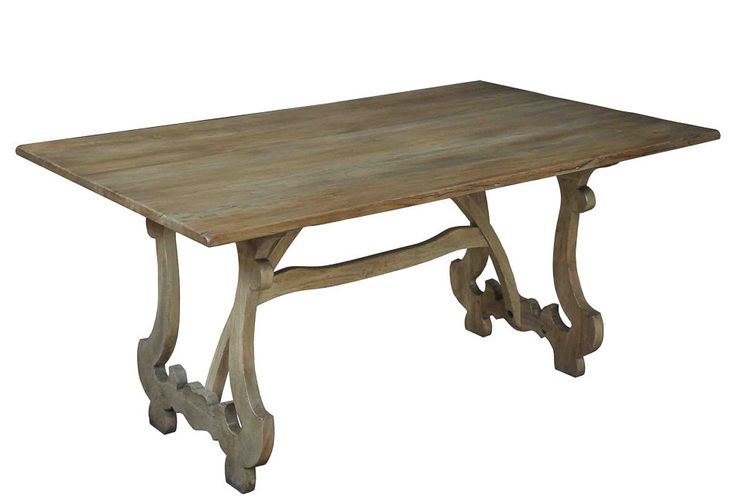 Driftwood Dining Table Walnut W Distressed Finish Rustic New FREE
