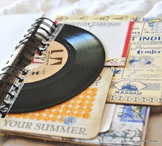Bind-It-All: A Mixed Up Summer Journal -- I *really* like the idea of including a 45rpm in the album!!