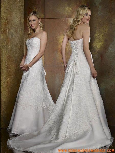 ... 2012 sans bretelle robe de mariée de broderie moins de 300 organza