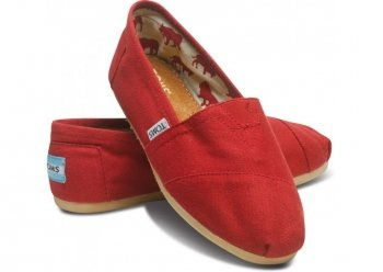 Toms Classics Women Red Shoes Charming