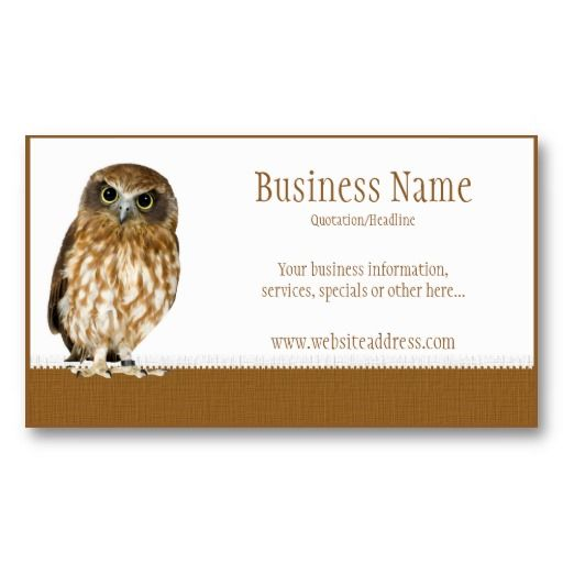 Owl business cards for Owl business cards