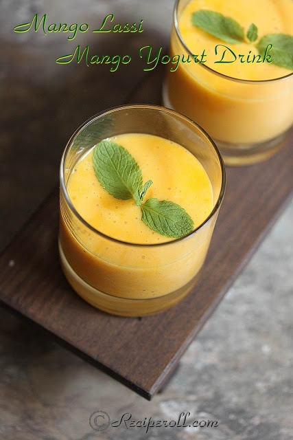 Mango Lassi | Indian Mango Yogurt Drink | Desiography + | Pinterest