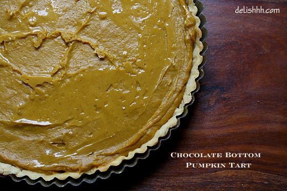 No-Bake Chocolate Bottom Pumpkin Tart | Recipe