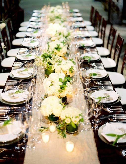 centerpieces for a long table set wedding ideas pinterest