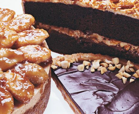 Chocolate-Glazed Peanut Butter Tart Recipe — Dishmaps