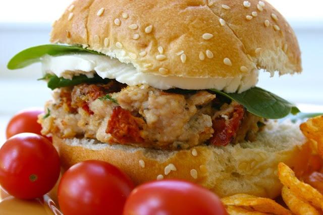 ... with Beth: Tasty Turkey Burgers with Sundried Tomato, Basil & Parsley