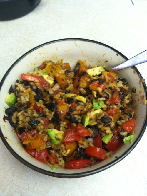 Try-It Tuesday! Chipolte Butternut Squash and Black Bean Burrito Bowl ...