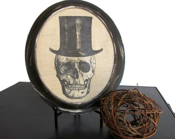 halloween skull spooky picture home decor wall art hanging
