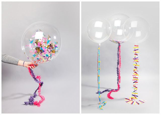 Clear balloons to look like bubbles party planning pinterest