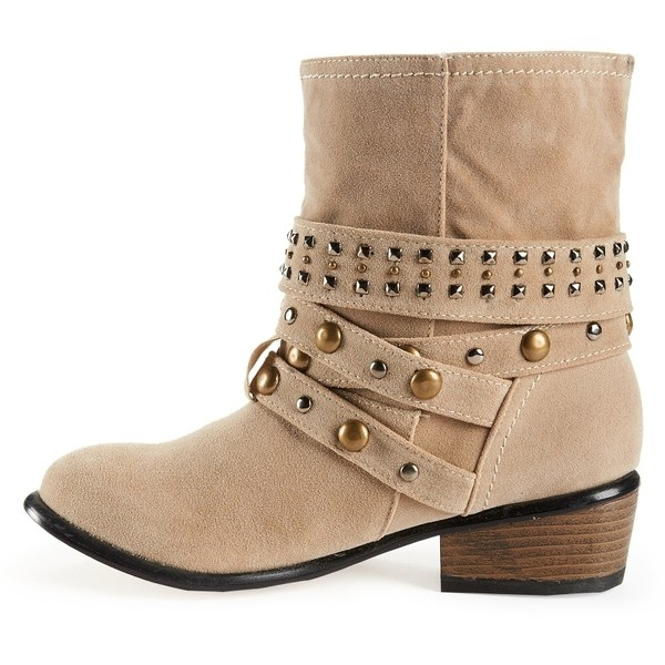 Aeropostale Charles Albert Shoes Studded Buckle Boot ($40) liked