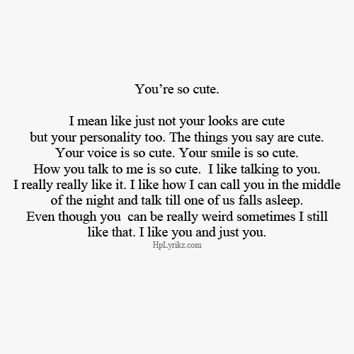 You're so cute. | Meaningful Quotes | Pinterest