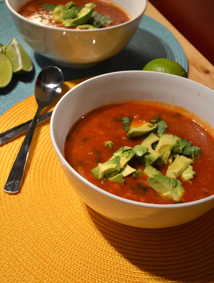 Amazing Vegan Tortilla Soup #veganrecipes http://www.runningonrealfood ...