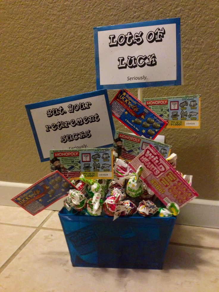 Fun/Easy $15 Retirement Gift (10 scratchers from 7/11 & styrofoam cups ...
