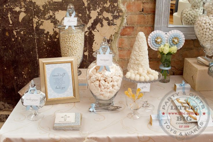 Dessert table first communion pinterest for 1st communion decoration ideas