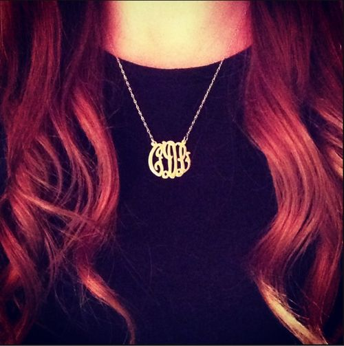 Monograms make everything better #monograms #jewelry #necklace #gold