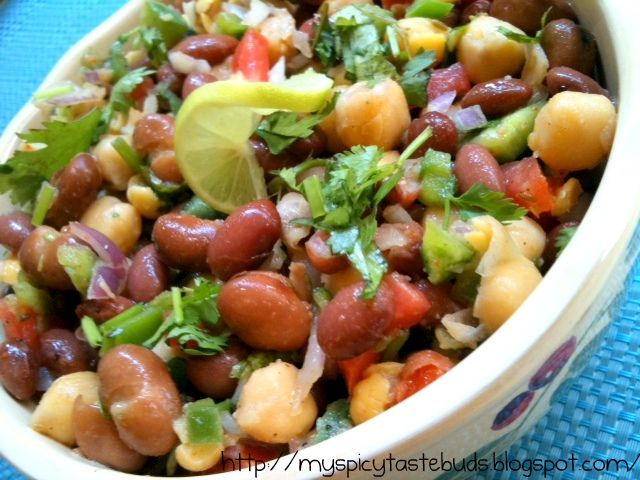 Mexican Bean Salad: | Mex-I-can do | Pinterest