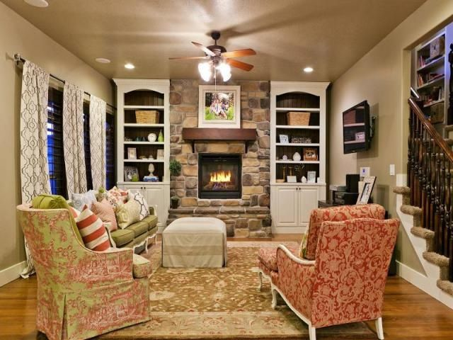Cozy French Country Family Room Homes Pinterest